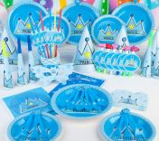 Bộ 16 món trang trí sinh nhật Princess Xanh