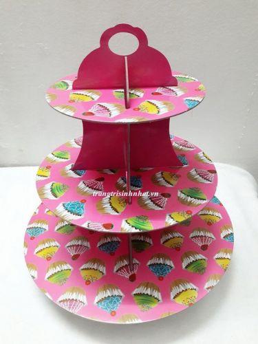 Tháp bánh Cupcake Hồng