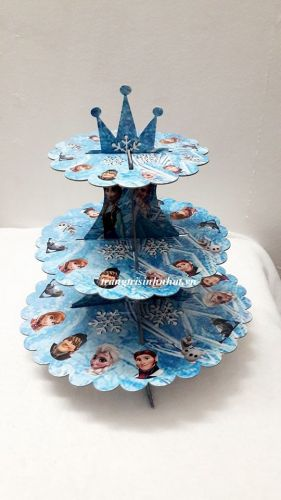 Tháp Bánh Cupcake Frozen