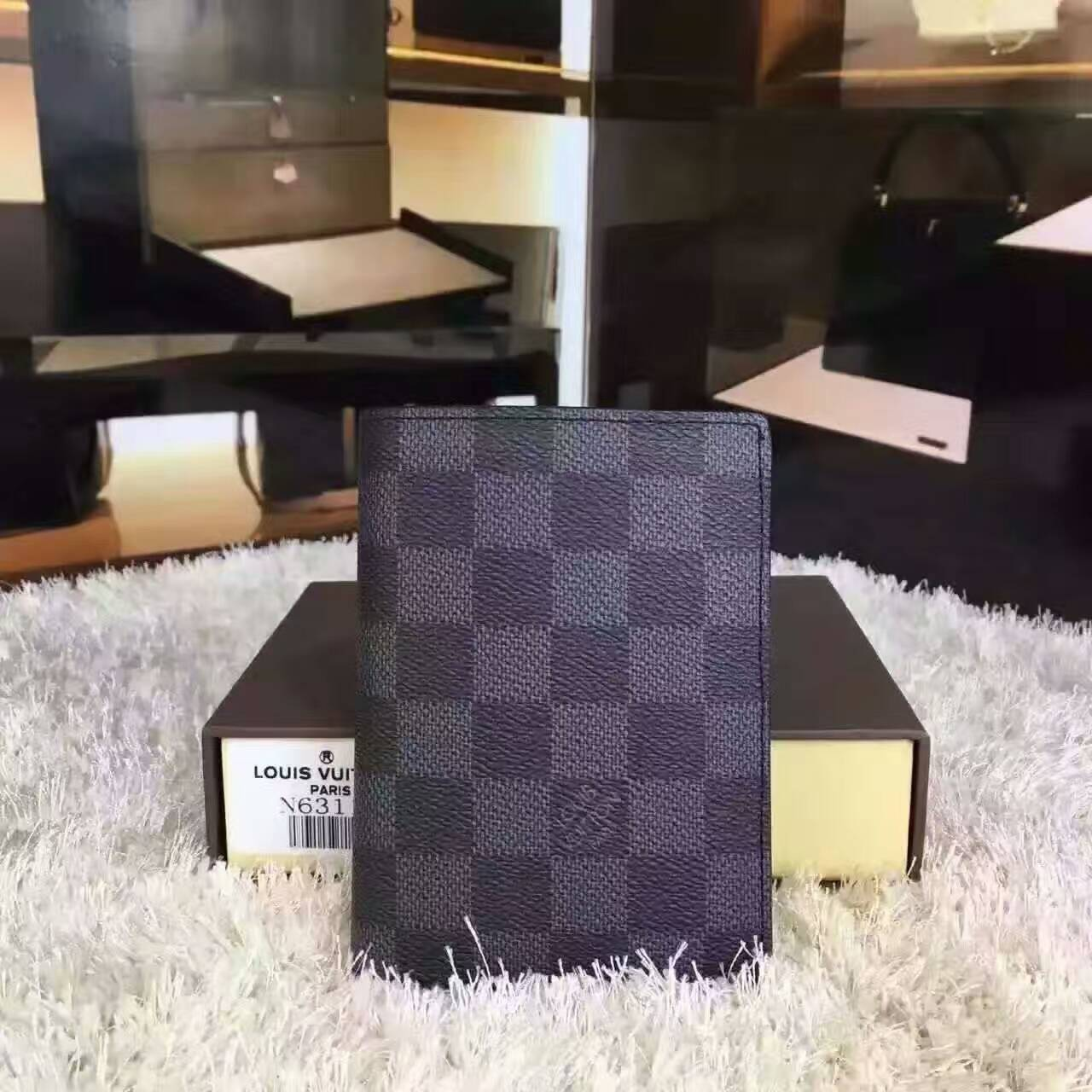 Louis vuitton damier graphite james wallet-N63117-VNLV172