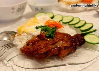 Cơm sườn nướng Hàn Quốc