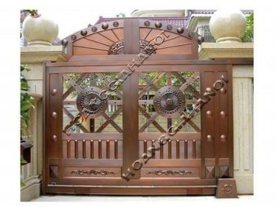 Mẫu cổng đồng đúc đẹp xu hướng hiện nay