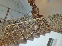 Mẫu cầu thang đẹp đẳng cấp bằng đồng đúc , nhôm đúc Hoàng Gia