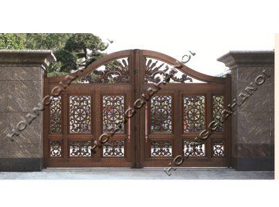 Bộ sưu tập những mẫu cổng biệt thự cổng nhôm đúc và đồng đúc đẹp nhất