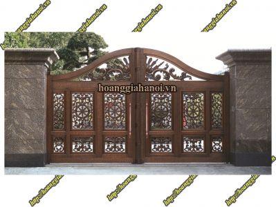 Cổng nhôm đúc Song Long Phun Lửa