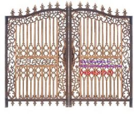 Mẫu cửa cổng nhôm đúc hợp kim đẹp nhất năm nay