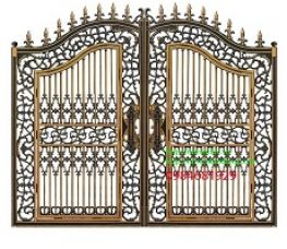 Cổng nhôm đúc, đồng đúc tại Ba Đình – Hà Nội