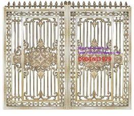 Cửa cổng nhôm và hàng rào đồng bộ