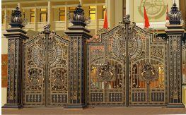 Mẫu cửa cổng đúc hợp kim nhôm đúc năm 2018