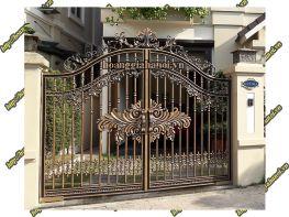 Cổng nhôm đúc phù điêu phong thủy - Nhôm Đúc Hoàng Gia