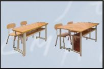 Bàn ghế học sinh bán trú hai ghế rời