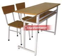 Bàn học sinh đơn 2 ghế rời cao 1200x400x650 - 346SFA