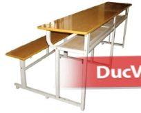 Bàn học sinh 4 chỗ ngồi liền ghế không tựa lưng