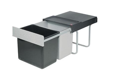 Thùng rác đôi, Thùng rác tiết kiệm không gian Hailo 3640-00, 2 x 18 lít