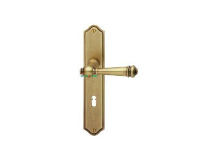Bộ tay nắm cửa, màu thép/đồng cổ, Scheitter, 184Z/231Z