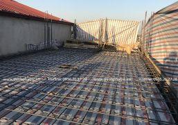 Công tác thi công mái 7 nhà anh Tùng - Hồng Hà, Hoàn Kiếm, Hà Nội