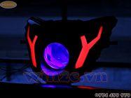 Bộ đèn pha Exciter 135 độ gương cầu Morimoto + họa tiết Led mẫu Lamborghini mới gia công còn hàng