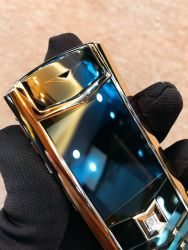 Vertu Signature S Rose Gold Black DLC With Diamond