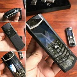 Vertu Signature S Pure Black Skin Diamond