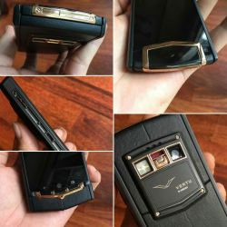 Vertu Ti Black Mixed Red Gold