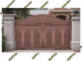 Cổng nhôm đúc Art Nouveau cho chốn bình yên - Nhôm đúc Hoàng Gia