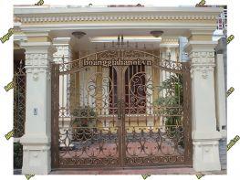 Cổng nhôm đúc Song Long Phú Quý  - Nhôm đúc Hoàng Gia