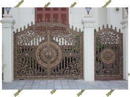 Cổng nhôm đúc Tứ Phẩm Liên Hoa - Nhôm đúc Hoàng Gia