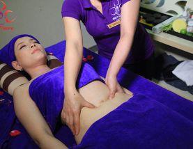 Quy trình massage sau sinh giảm mỡ bụng