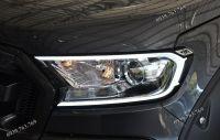 Viền đèn led trước xe Ford Ranger - Hàng FITT