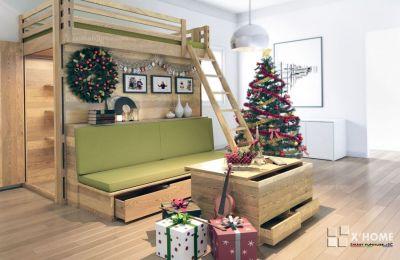 Giường tầng kết hợp Sofa và tủ đồ