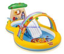Bể bơi cầu trượt cầu vòng gấu Pooh Intex 57136