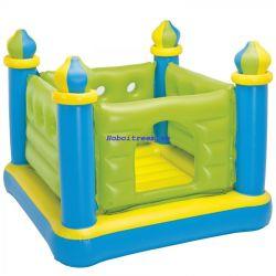 Nhà banh nhún lâu đài xanh cho bé Intex 48257