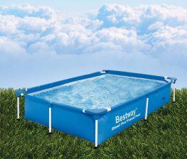 Hồ bơi chữ nhật khung kim loại Bestway 56401