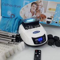 Máy sấy quần áo SAMSUNG tia UV diệt khuẩn, có điều khiển từ xa tiện lợi