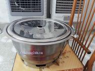 Bếp nướng than hoa âm bàn Hàn Quốc - Hút dương