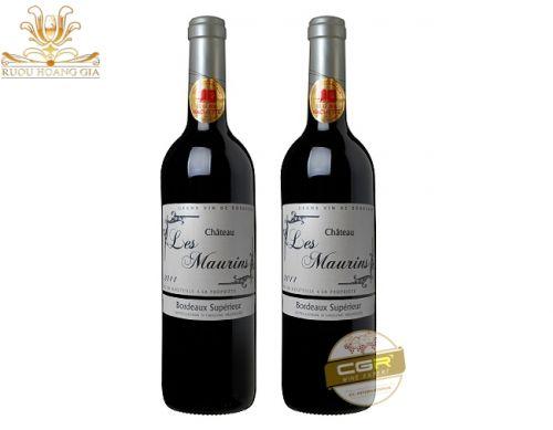 Rượu Les Maurins hộp quà