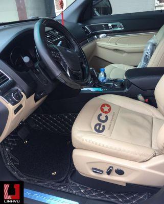 Thảm lót sàn Eco Prenium Ford Explorer màu đen