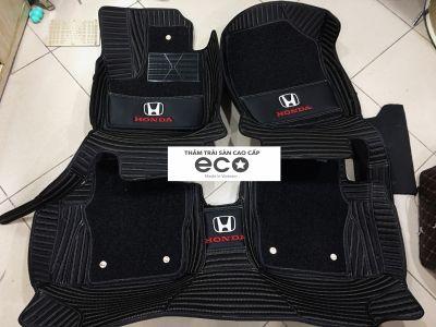 Thảm lót sàn Eco carbon 2 lớp màu đen Honda City