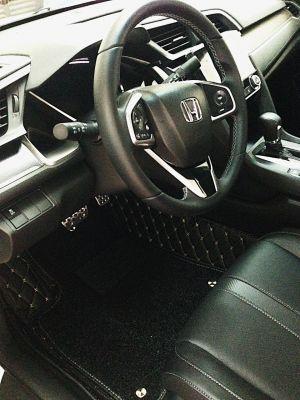 Thảm lót sàn Eco HD 2 lớp màu đen Honda Civic