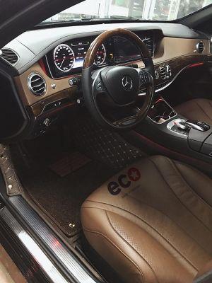 Thảm lót sàn Eco HD màu nâu 2 lớp Mercedes S400