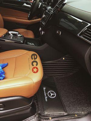Thảm lót sàn Eco Carbon màu đen 2 lớp Mercedes GLS