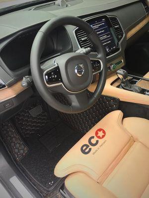 Thảm lót sàn Eco Premium 2 lớp màu đen Volvo Xc90