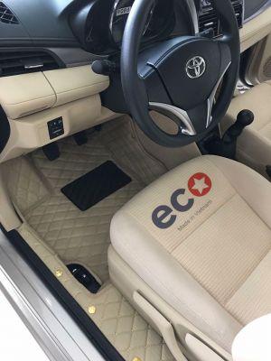 Thảm lót sàn Eco HD 1 lớp màu kem TOYOTA VIOS