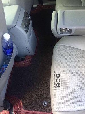 Thảm lót sàn Eco Premium 2 lớp màu nâu TOYOTA HILANDER