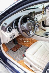 Thảm lót sàn Eco premium 2 lớp màu nâu da bò Mercedes C