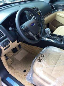 Thảm lót sàn Eco Premium 2 lớp Ford Explorer 7 chỗ màu kem