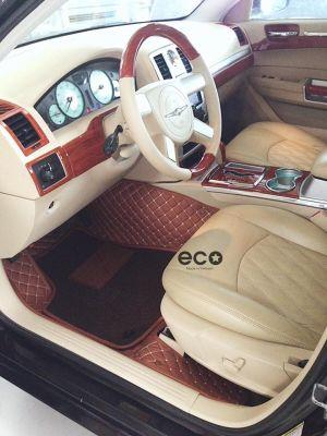 Thảm lót sàn Eco Premium Chrysler 300C màu nâu 2 lớp