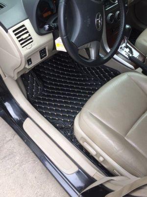 Thảm lót sàn Eco Premium Toyota Altis màu đen chỉ kem 1 lớp