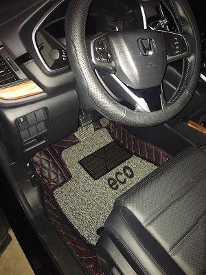 Thảm lót sàn Eco CRV 2018 màu đen 2 lớp