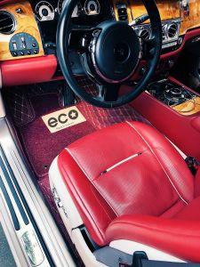 Thảm lót sàn Eco 2 chỉ rolls-royce  Wraith màu đỏ 2 lớp